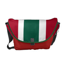 Green White and Crimson Messenger Bag