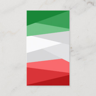 Green White and Red Color Stacks Business Card