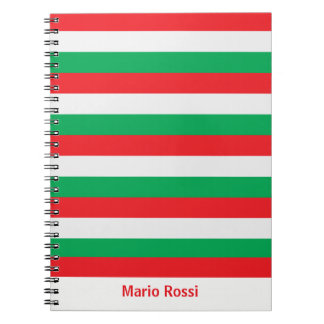 Green, white and red - Italian flag Notebook