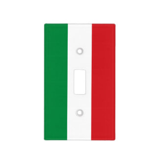 Green White and Red Striped Light Switch Cover