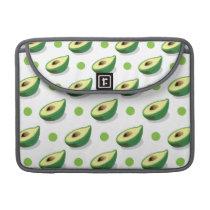Green & White Avacado, Polka Dot Pattern MacBook Pro Sleeve