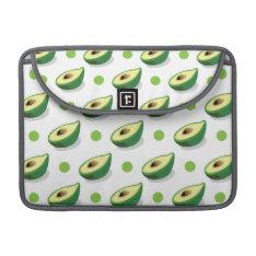 Green & White Avacado, Polka Dot Pattern Macbook Pro Sleeve at Zazzle