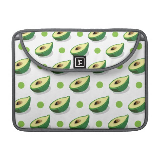 Green & White Avacado, Polka Dot Pattern MacBook Pro Sleeve