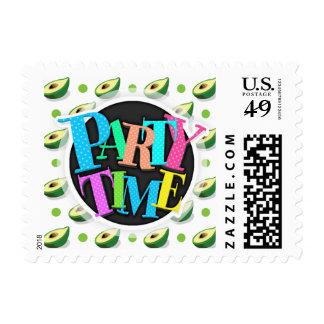 Green & White Avacado, Polka Dot Pattern Stamps