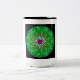 Green White Black Mandala Coffee Tea Cup Mug