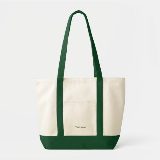 Green & white Canvas bag for Nancy