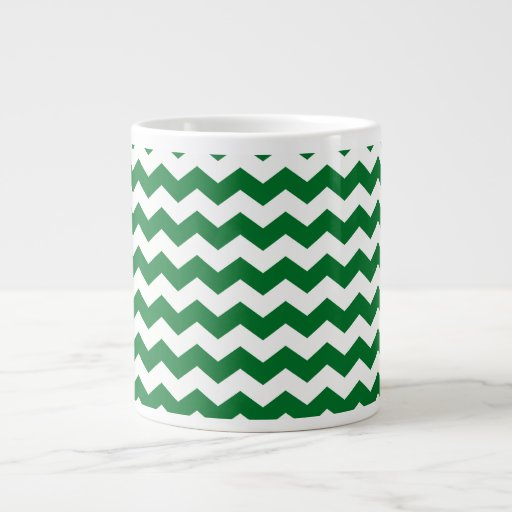 green white chevrons jumbo mug