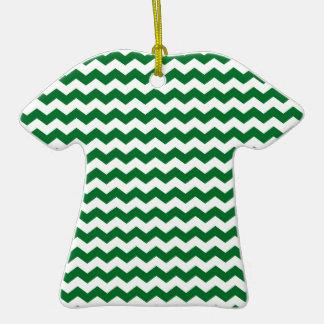 green white chevrons Double-Sided T-Shirt ceramic christmas ornament