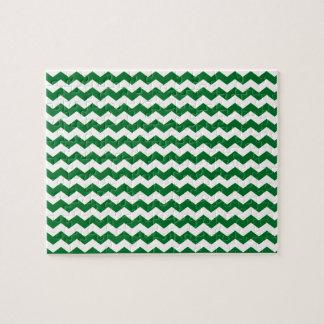 green white chevrons puzzles