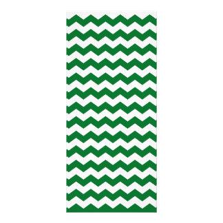 green white chevrons rack card