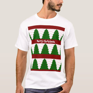 Green / White Christmas trees T-Shirt