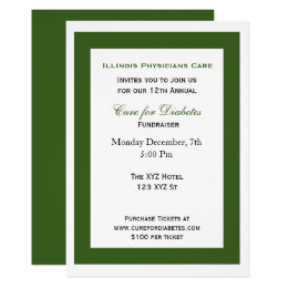 Launch invitations announcements zazzle green white classy corporate party invitation stopboris Image collections