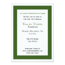 green white classy Corporate party Invitation
