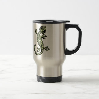 Green White Climbing Gecko Lizard Coffee Mug