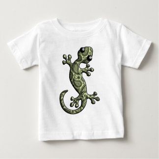 Green White Climbing Gecko Lizard T-shirt