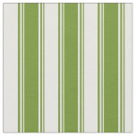 [ Thumbnail: Green & White Colored Lines Fabric ]