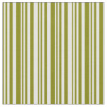 [ Thumbnail: Green & White Colored Stripes Fabric ]