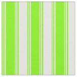 [ Thumbnail: Green & White Colored Stripes Pattern Fabric ]