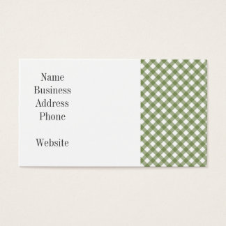 Green White Criss Cross Diamond Argyle Pattern Business Card