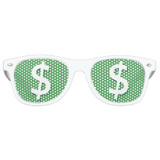 Green & White Dollar Sign Party Shades