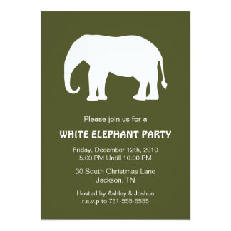 white elephant holiday party invitations  announcements  zazzle, Party invitations
