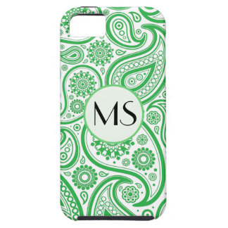 Green White Floral Pattern iPhone 5 Cases
