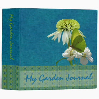 Green & White Flower Bouquet Earth Day 3 Ring Binder