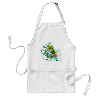 Green & White Flower Bouquet Earth Day Adult Apron