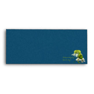 Green & White Flower Bouquet Earth Day Envelope