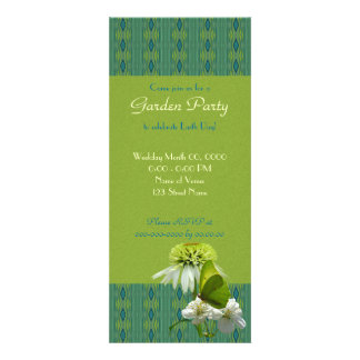 Green White Flower Bouquet Earth Day Personalized Announcements