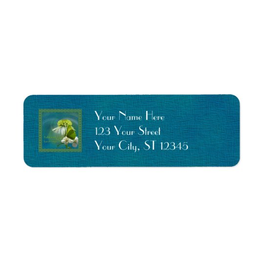 Green & White Flower Bouquet Earth Day Label