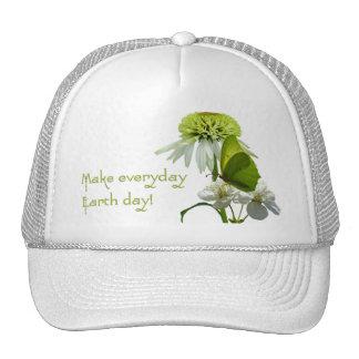 Green & White Flower Bouquet Earth Day Trucker Hat