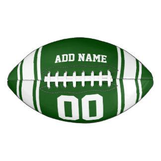 Green White Football Jersey Stripes