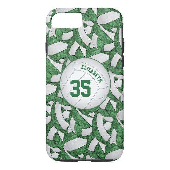 green white gifts team spirit girls' volleyball iPhone 8/7 case