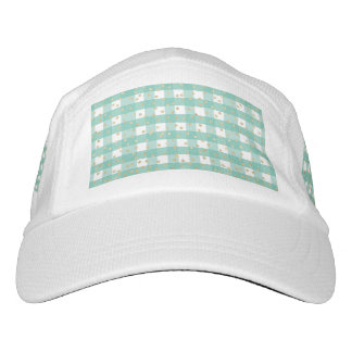 green,white,gingham,gold,polka dot,trendy,girly,ch headsweats hat