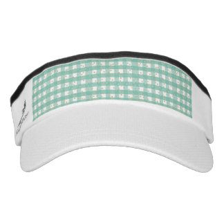 green,white,gingham,gold,polka dot,trendy,girly,ch visor