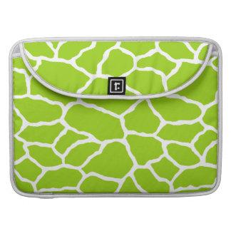 Green White Giraffe Skin Pattern MacBook Pro Sleeve For MacBook Pro