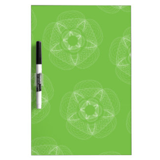 green white guilloce pattern Dry-Erase whiteboard