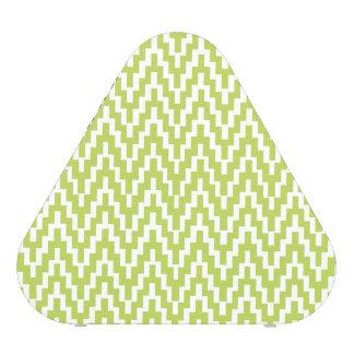 Green White Ikat Chevron Zig Zag Stripes Pattern Speaker