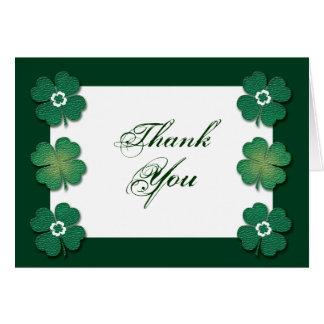 Green white Irish wedding anniversary Greeting Card