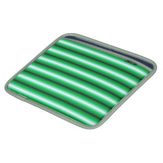 Green white Line pattern Sleeves For iPads