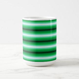 Green white Line pattern Mug