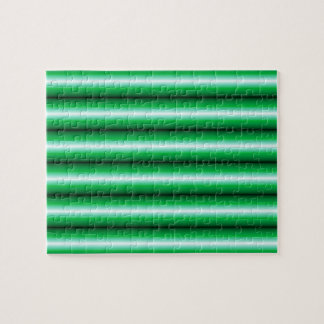 Green white Line pattern Jigsaw Puzzle
