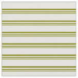 [ Thumbnail: Green & White Lined Pattern Fabric ]