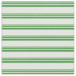 [ Thumbnail: Green & White Lines Fabric ]