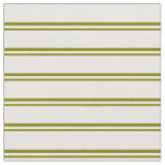 [ Thumbnail: Green & White Lines Pattern Fabric ]