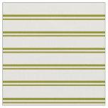 [ Thumbnail: Green & White Lines Pattern Fabric ]