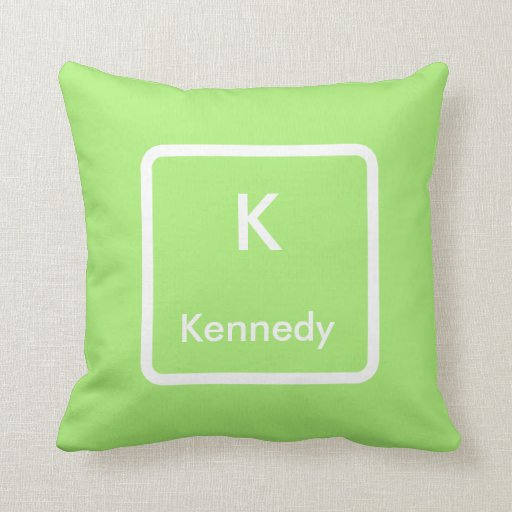 Green white monogram throw pillow zazzle for Green and white throw pillows
