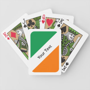 Green White Orange Stripes Bicycle Playing Cards at Zazzle