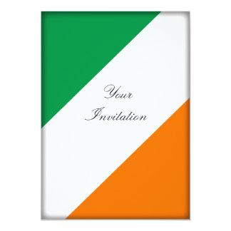 Green White Orange Stripes Card